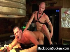 Rug muncher Butthole Bashing in the Back Room gay porno