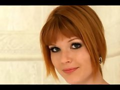 Mia Sollis sexual redhead under the shower