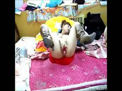 Chinese Home Gf horny dark haired missionary