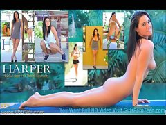 Harper natural sizzling teen is as First Timer as you can get