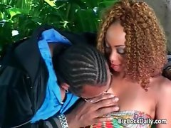 Wild anus sex with stunning curly slutty ebony