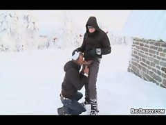 Rectal on The Slopes &ndash_ Outdoor Gay Sex For Money