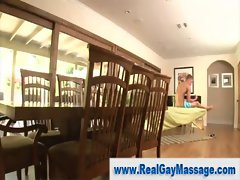 Gay masseuse hunk slowly seduces straight lad