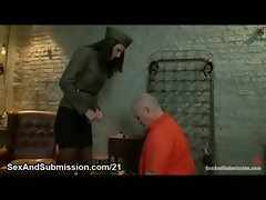 Big titted dark haired in bondage rough flogged and zippered and backdoor shagged