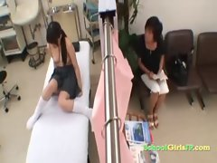 Schoolgirl Screwed In Doggy By The Doctor Receiving Creampie On The Bed In The Hospital