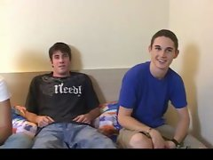 Great alluring hetero fellows jerking, banging gay video
