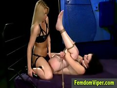 Lezdom mistress facesits poor whore victim