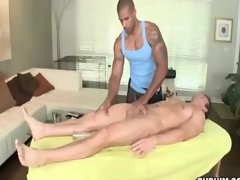 Straight man gets spoiled by his masseur