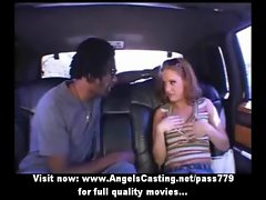 Amateur perfect redhead cutie talking with a nigger and undressing
