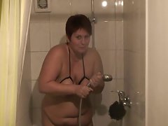 German slave Anna - shower after session
