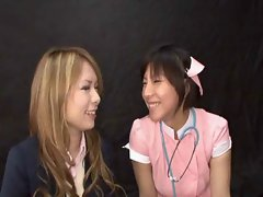 Sensual japanese slutty chicks gokkun bukkake 1