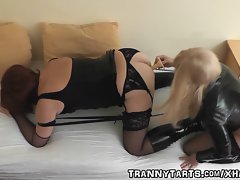 Mistress bondages and bangs amateur t-girl