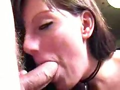 This gal makes sure the shaft spits its white and then the girl drinks it