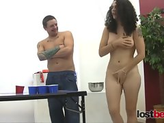 Strip Beer Pong vs Franco,Holly,Dick & Zayda p1