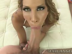 Kayla Carrera throat screws this wild throbbing pecker
