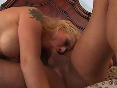 Rebecca Steel gobbles down this brutal throbbing phallus