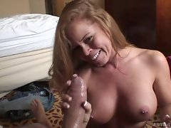 Saucy Nikki Delano gets drenched with filthy penis juice