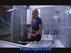 PublicAgent Fit lewd Chick needs a plumber