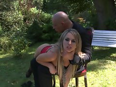 Aleksa Diamond goes outside and gets molested by an aggressive prick