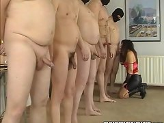 Standing In Line Gangbang