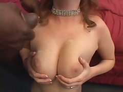 Ginger Blaze gets her dark meat snatch lips spread apart and hammered
