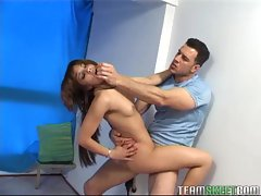OyeLoca Feckled latina Lucy Martinez banged facialized