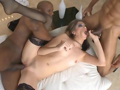 Jenna Haze likes a sweet black penis to give her that rough hammering