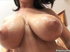 Kristi Klenot exposes her big dampish hooters