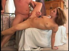 Brandy Nicole gets her moist slit crammed with hard throbbing dick