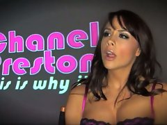 Chanel Preston putting a terrific display showing the proper way to suck penis
