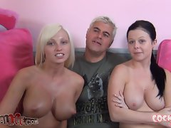 Rikki Six & Loni Evans Suck Off Two Happy Dudes!