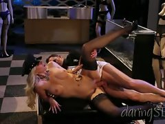 Jazy Berlin gets her dripping quim stuffed with hard shaft