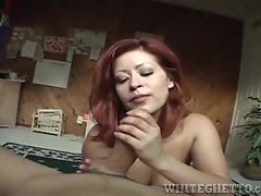 Misty Mendez gets her face drizzled with warm cum