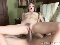 Jessie Andrews bounces her lewd quim on this hard shaft