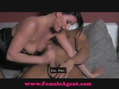 FemaleAgent. Dripping mouth fellatio