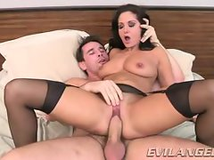 Ava Addams receives this strong dick deep in her dripping slot