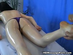 Rectal sex massage with lovely young lady