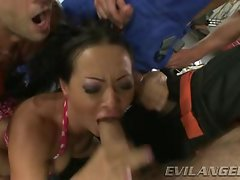 Sandra Romain gets her mouth crammed with hard shaft