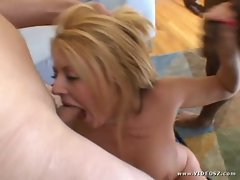 Sophie Dee gets her mouth crammed with hard throbbing dick