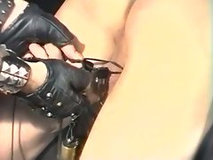 Filthy pig daddies in leather bondage