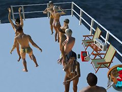 Spring break orgy on a boat
