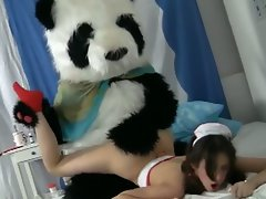 Filthy sex to cure a sick panda mascot