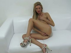 Attractive young woman anastasia masturbates