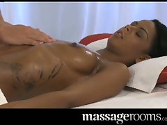 Filthy ebony venus massaged and fingered