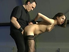 Slave jalace gets a brutal fuck in all chained