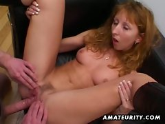 Redhead amateur cougar facialized