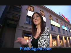 Dark haired amateur banged wild in public