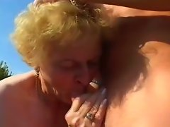 Granny miroslava filled with shaft