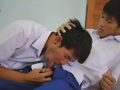 Asian after school cock sucking