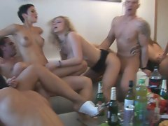 Crazy czech home orgy party